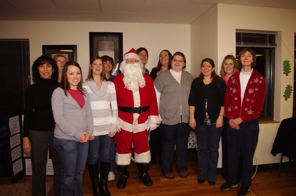 KTK Staff with Santa at the 2011 Open House